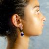 Copper lapis lazuli Earrings Side