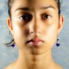 Copper lapis lazuli Earrings Front