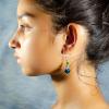Green Malachite Earrings Side