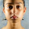 Green Malachite Earrings Front