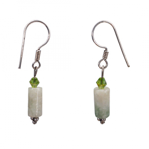 White Amazonite Earrings