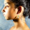 White Amazonite Earrings Side