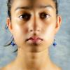 Blue sapphire Earrings Front