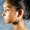 Blue sapphire Earrings Side