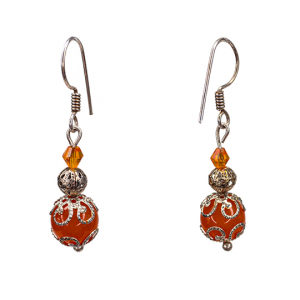 South American orange Topaz Earrings
