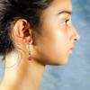 South American orange Topaz Earrings Side