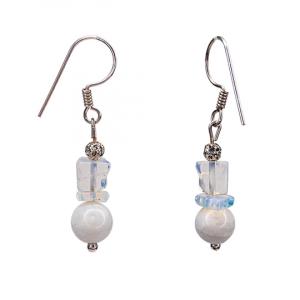 Moonstone bead Earrings