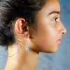 Moonstone bead Earrings Side