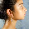 Quartz crystal Earrings Side