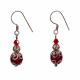 Ruby red Agate Earrings
