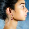 Ruby red Agate Earrings Side