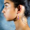 Argentina Rhodochrosite Earrings Side