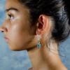Green aventurin Earrings Side