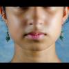 Green aventurin Earrings Front