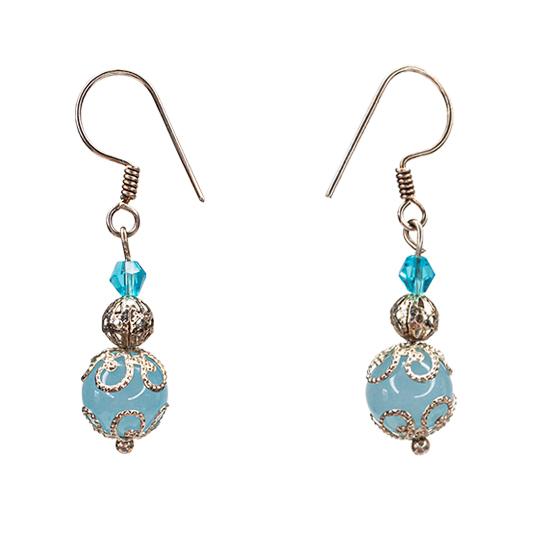 Aquamarine blue Earrings
