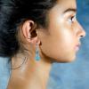 Aquamarine blue Earrings Side