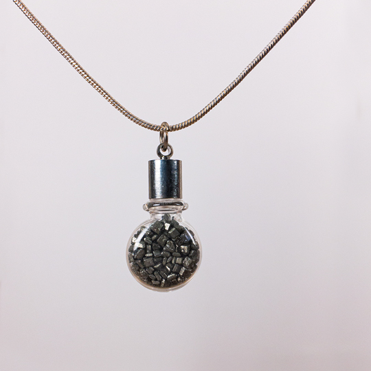 Oddments Gravel Necklace Back